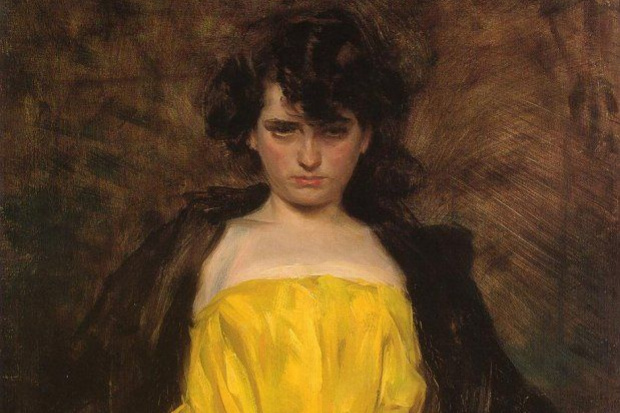 Ramon Casas i Carbó. Portrait of Julia Pereira (La Sargantain)