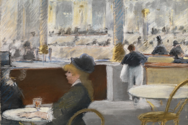 Edouard Manet. In a cafe