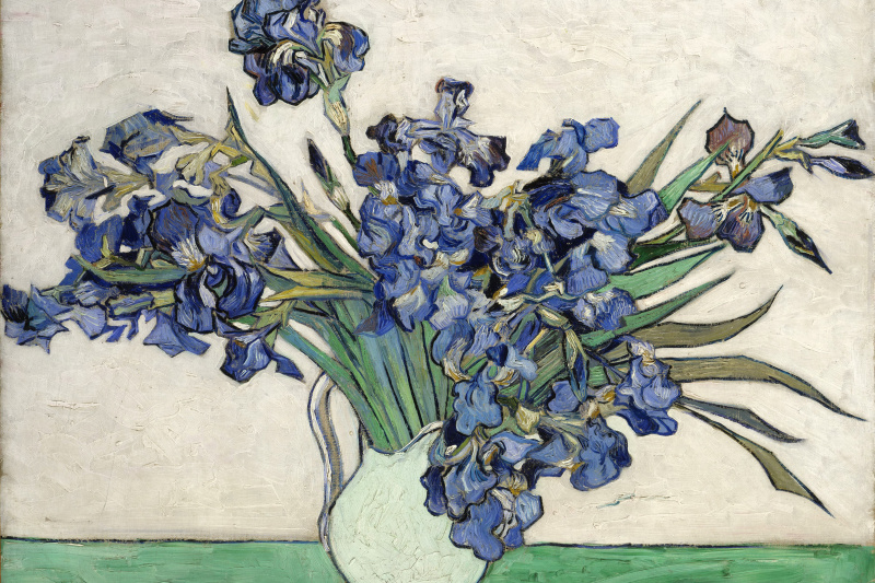 Vincent van Gogh. Irises in a vase