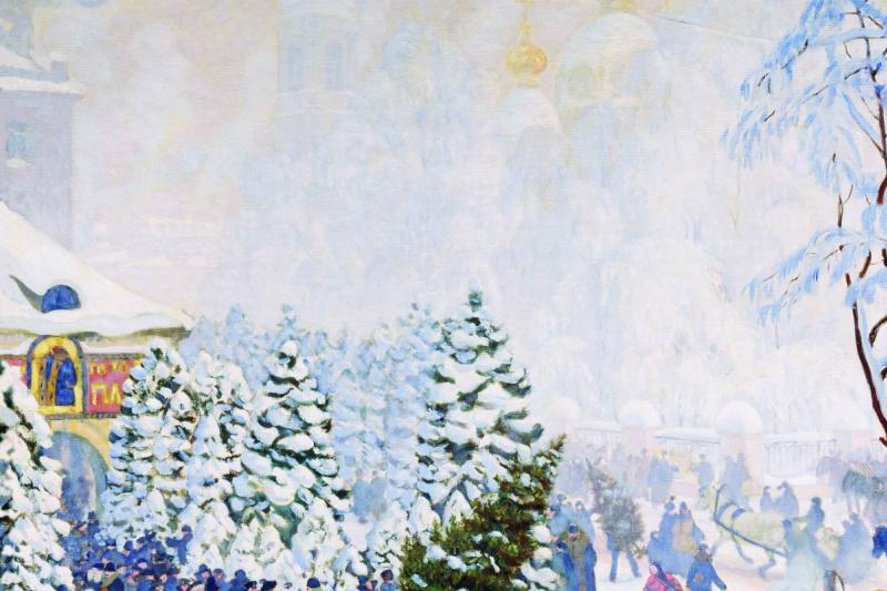 Boris Mikhailovich Kustodiev. Christmas bargain
