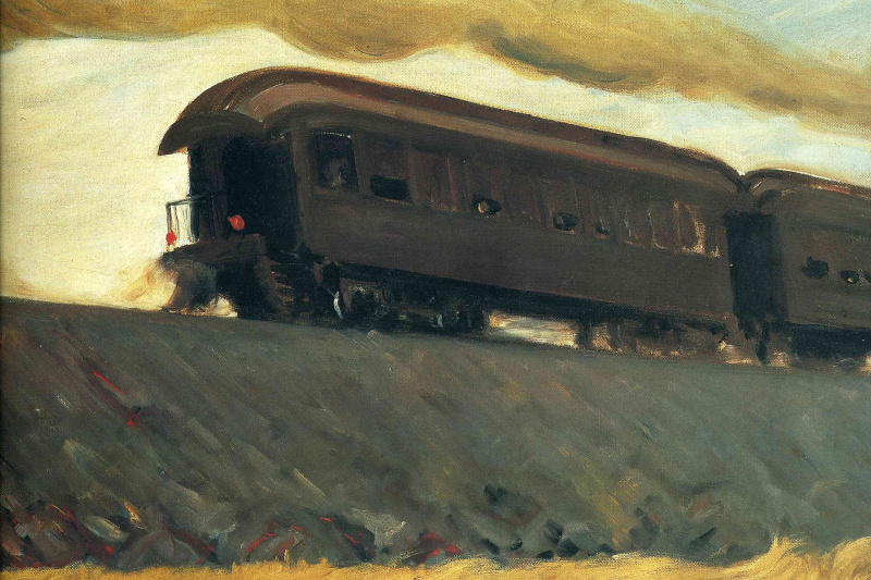 Edward Hopper. Train on the railway