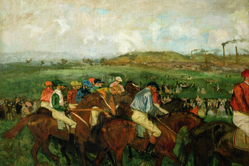 Edgar Degas. Riders before the start