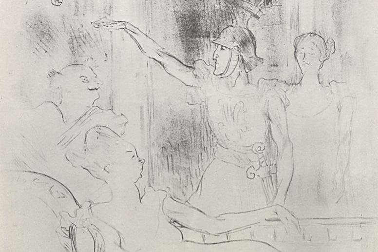 Henri de Toulouse-Lautrec. Farce after the Antiquities