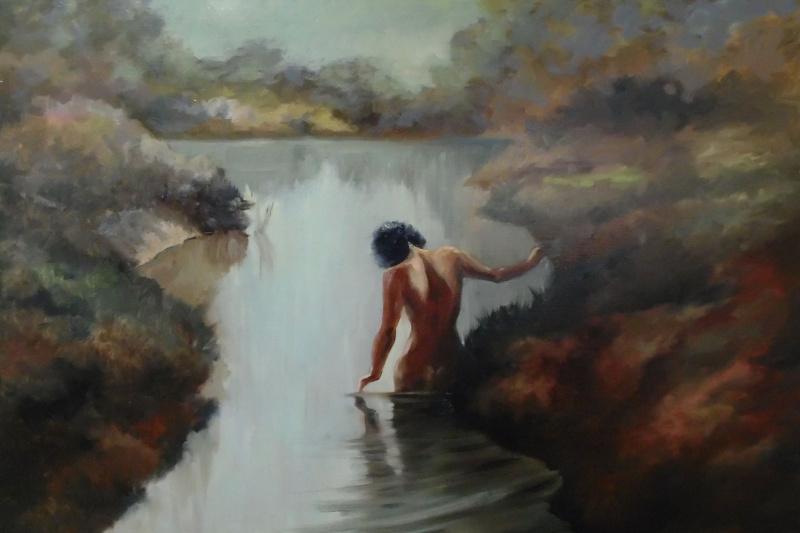 Elena Vyazemskaya. Swimming under the moon