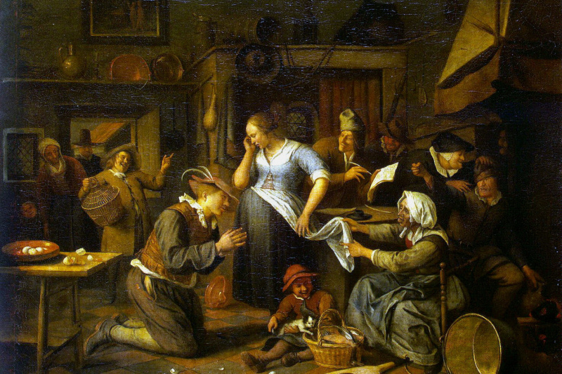 Jan Steen. Marriage contract