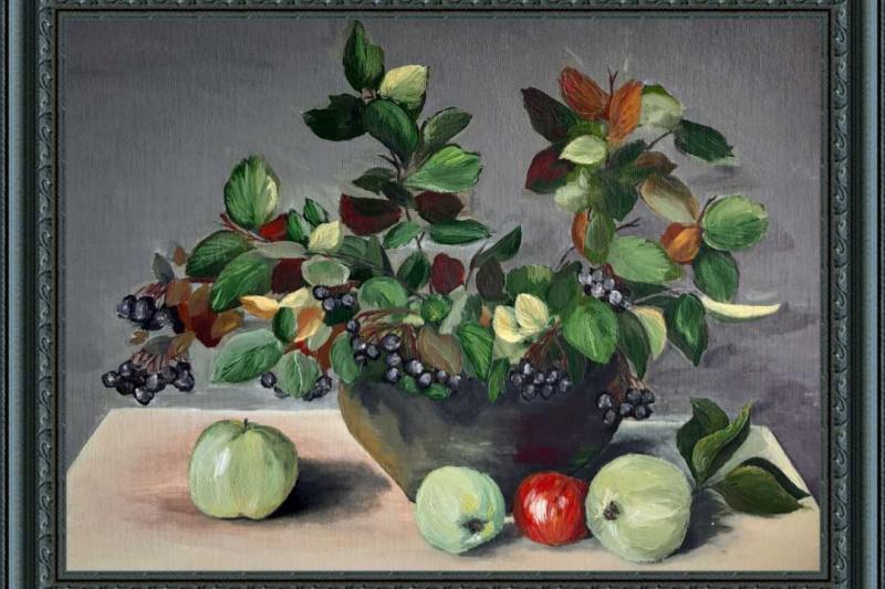 MIA. Black rowan and apples