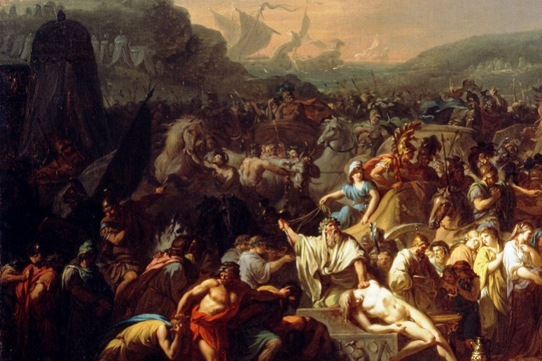Jacques-Louis David. The funeral games: the funeral of Patroclus. Fragment