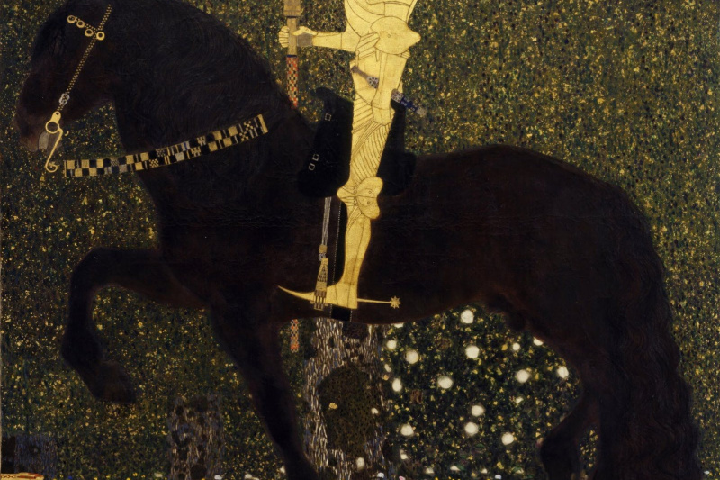 Gustav Klimt. Life in battle - Golden knight