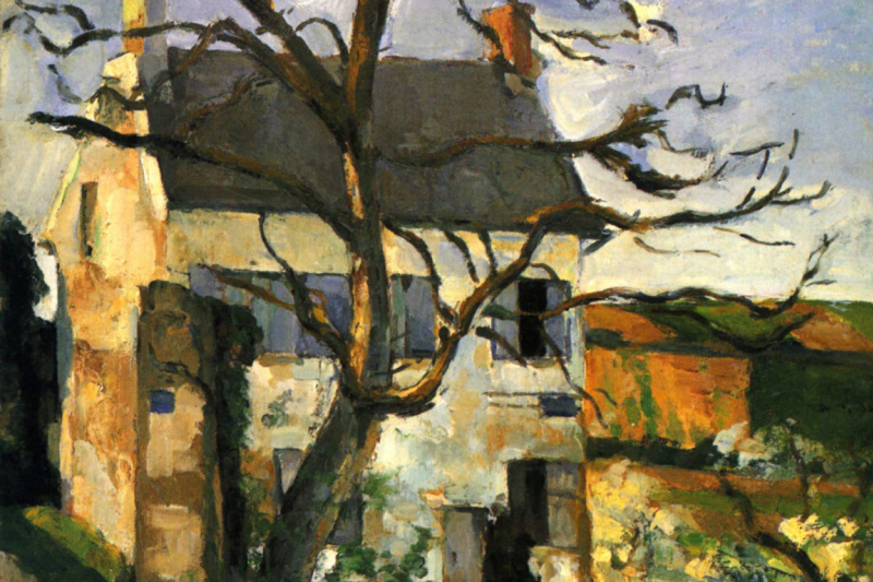 Paul Cezanne. The house and tree