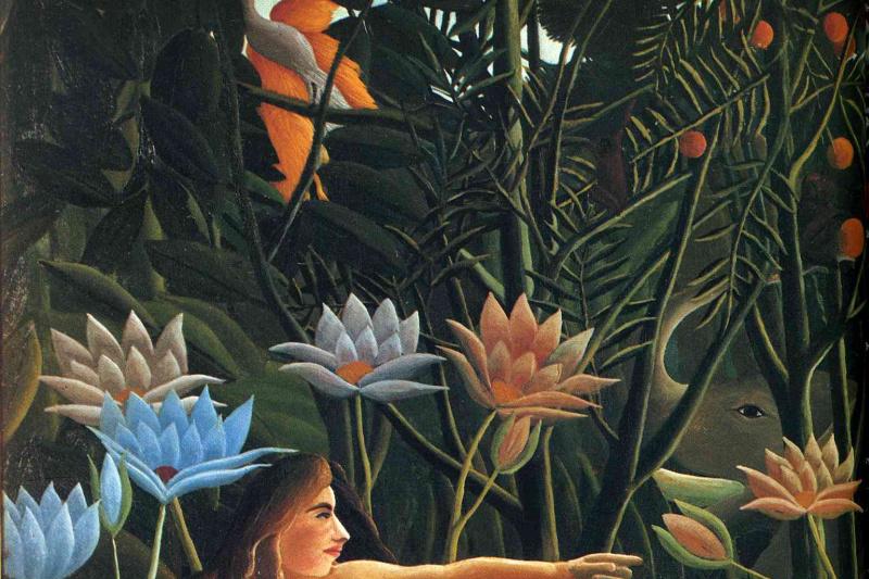Henri Rousseau. Sleep. Fragment