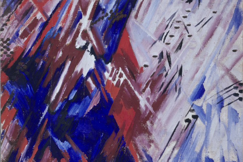 Mikhail Larionov. Beach. Red and Blue Luchism