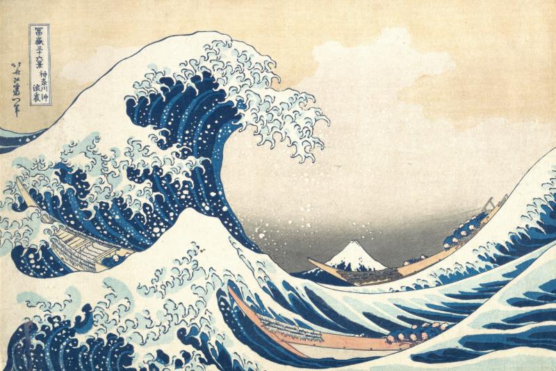 Katsushika Hokusai. Big wave in Kanagawa