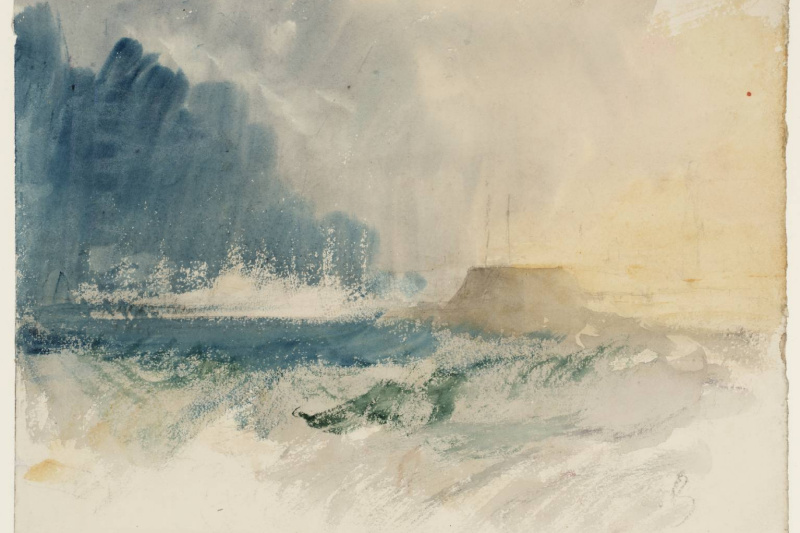 Joseph Mallord William Turner. Storm in the harbour