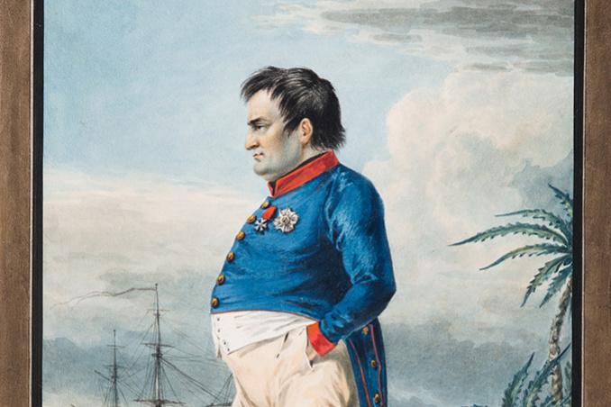 Alexander Osipovich Orel. Emperor Napoleon I Bonaparte on Saint Helena for two months before death