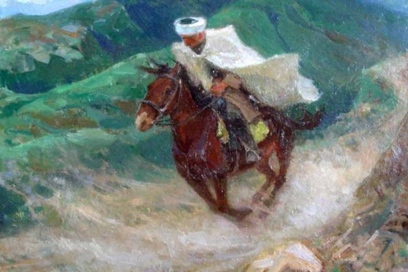 Михаил Иванович Авилов. Всадник. 1940 Холст, масло