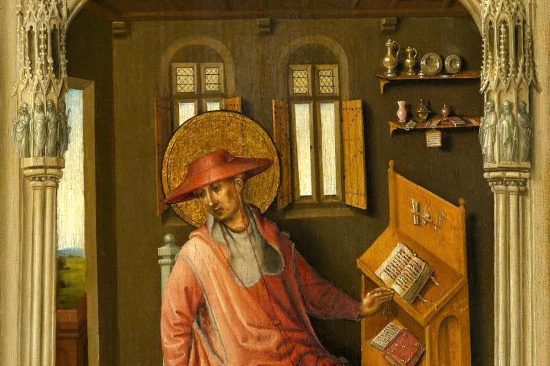 Stefan Lochner. Saint Jerome in the cell