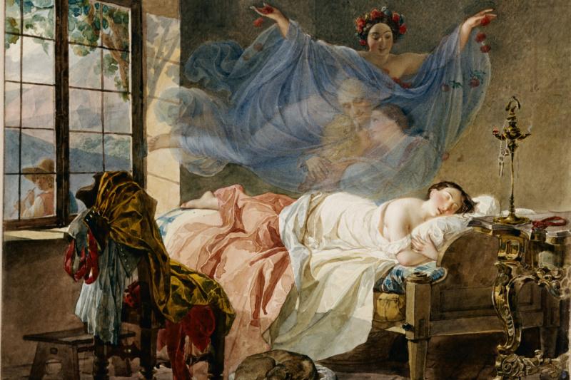Karl Pavlovich Bryullov. The dream of a young girl before dawn