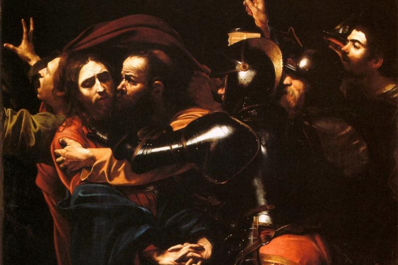 Микеланджело Меризи де Караваджо. Взятие Христа под стражу