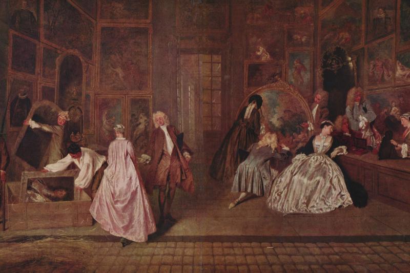 Antoine Watteau. Sign shop Gers