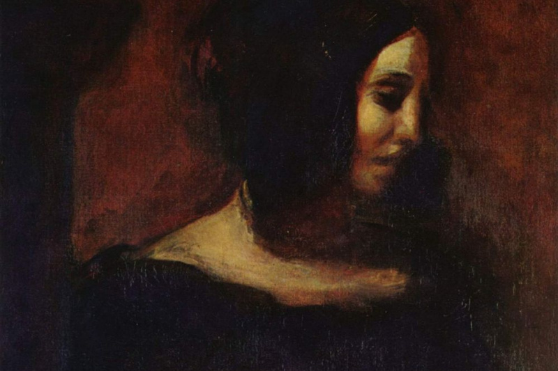 Eugene Delacroix. Portrait Of George Sand