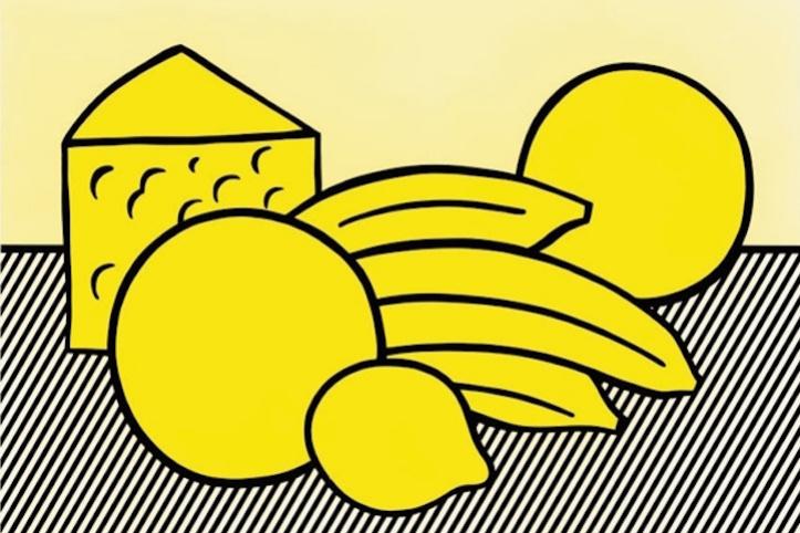 Рой Лихтенштейн. Желтый натюрморт
