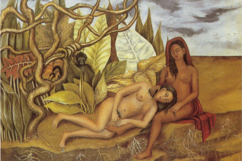 Frida Kahlo. Two Nudes in the forest
