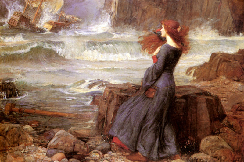 John William Waterhouse. Miranda and the tempest