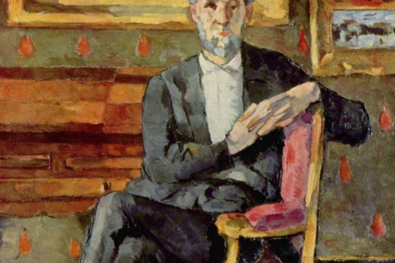 Paul Cezanne. Portrait of a seated Victor Shock