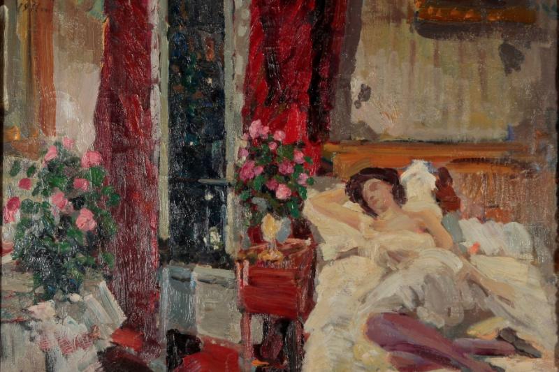 Konstantin Korovin. In the room