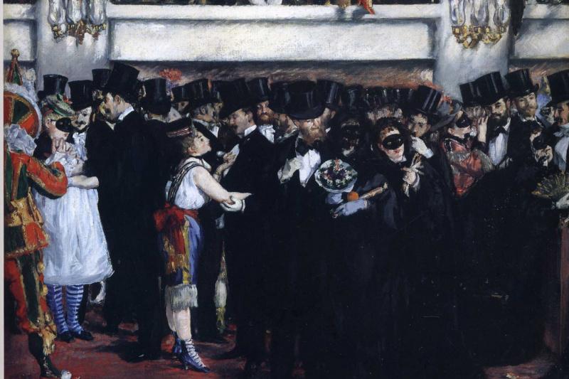 Edouard Manet. Masquerade ball at the Opera