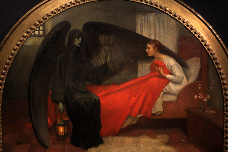 Marianne Stokes (Preindlesberger). Death and the maiden