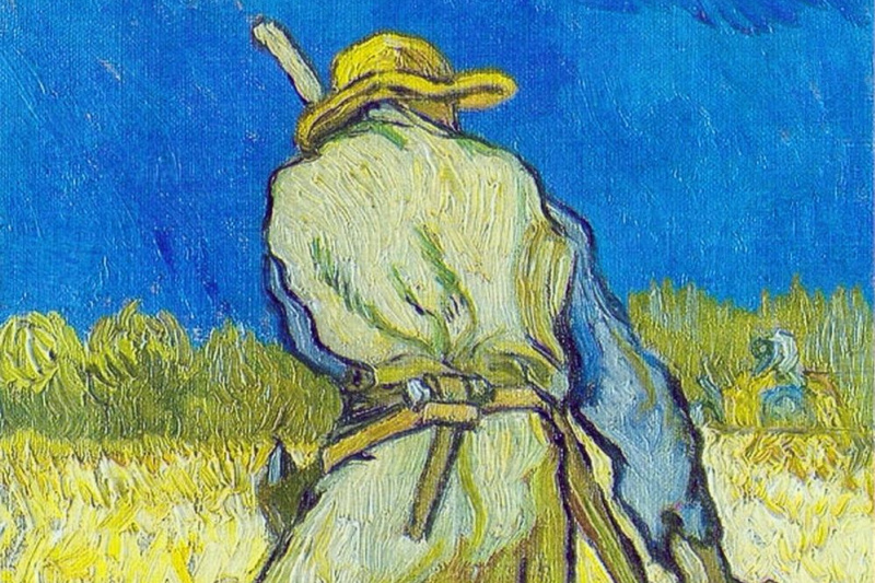Vincent van Gogh. Reaper (based on millet)