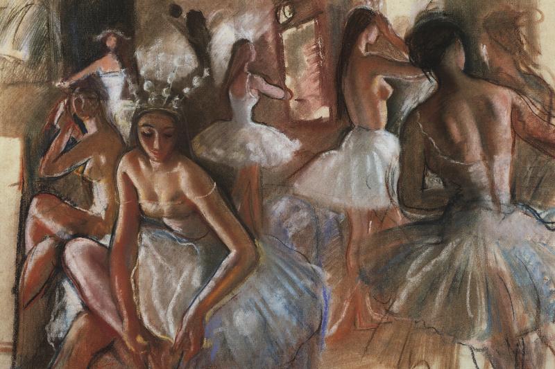"Zinaida Serebryakova. Snowflakes. The Tchaikovsky Ballet ""The Nutcracker"""