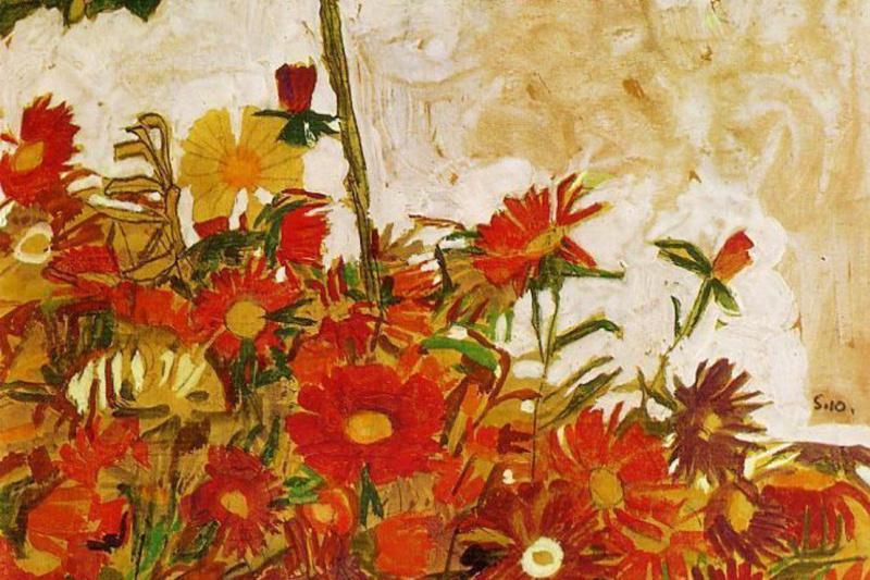 Эгон Шиле. Поле цветов