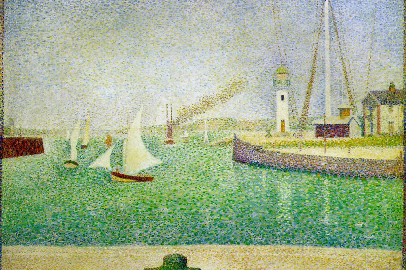 Georges Seurat. The entrance to the port of Honfleur