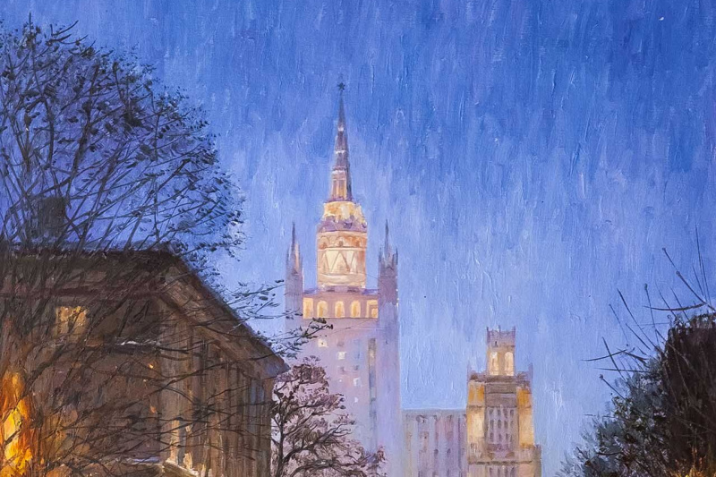 Savely Kamsky. A walk in snowy Moscow
