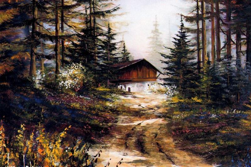 Хуан Фортуни. Лесной пейзаж