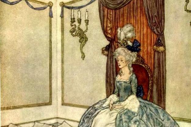 Эдмунд Дюлак. Иллюстрация к сказке Снежная Королева 006. Принц и принцесса