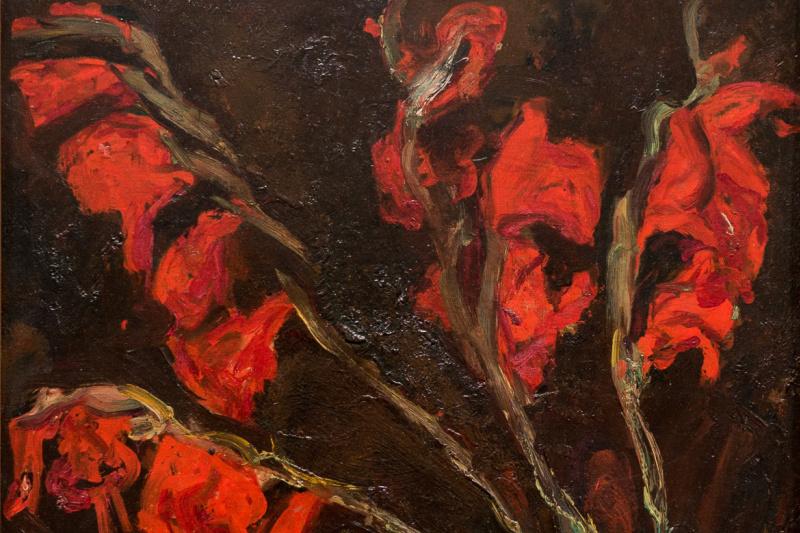 Haim Solomonovich Soutine. Red gladioli