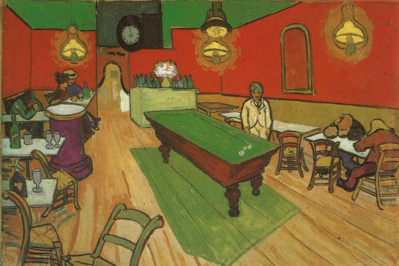 Vincent van Gogh. Night cafe (option)