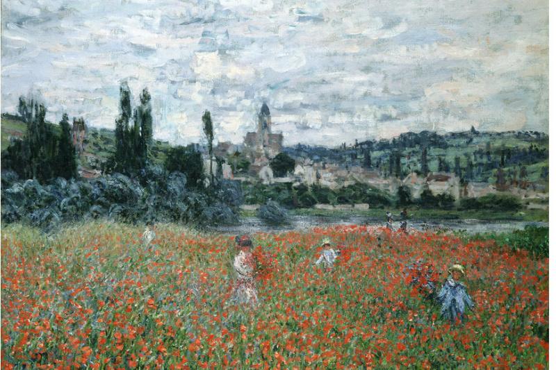 Claude Monet. Poppy field near Wetaa