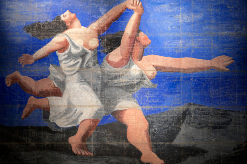 "Пабло Пикассо. Задник к балету ""Голубой экспресс"""