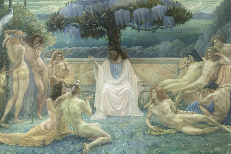 Jean Delville. School of Plato
