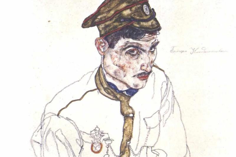 Egon Schiele. Portrait of a Russian prisoner of war Grigori's Clarisol