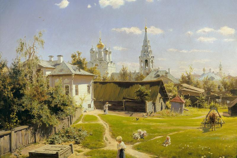 Vasily Dmitrievich Polenov. Moscow courtyard