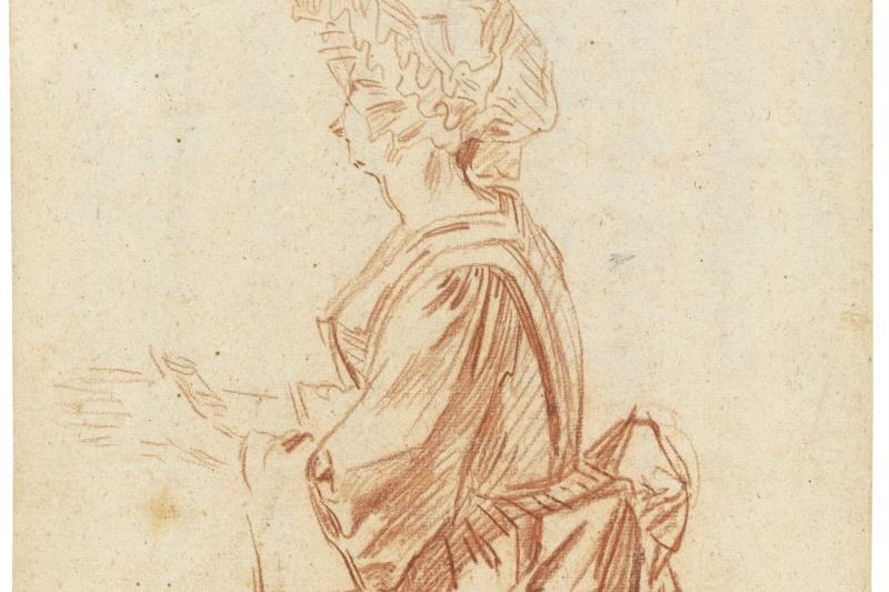 Antoine Watteau. A KNEELING WOMAN PRAYING
