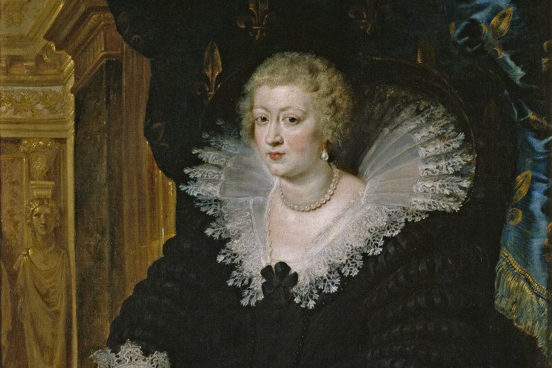 Peter Paul Rubens. Portrait of Anna of Austria, Queen of France