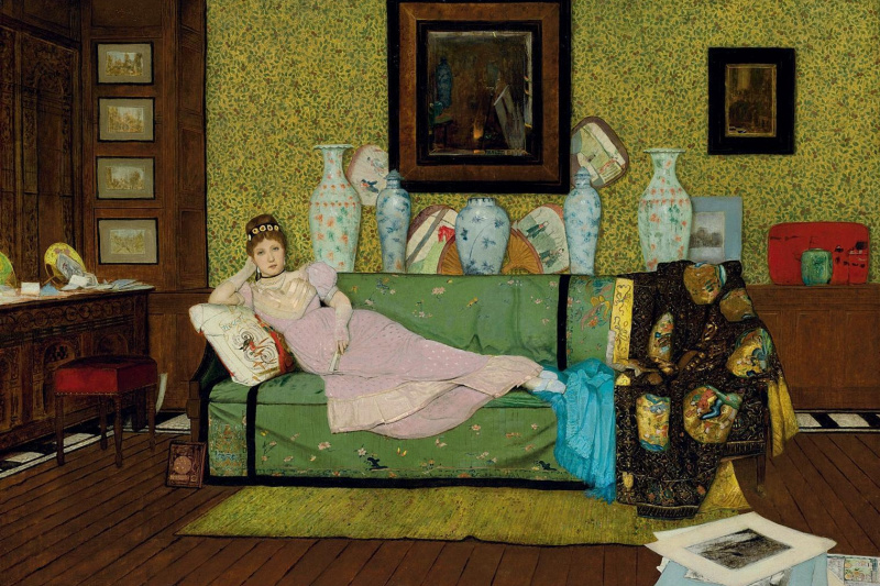 Atkinson Grimshaw (1836-1893). In the house of the artist