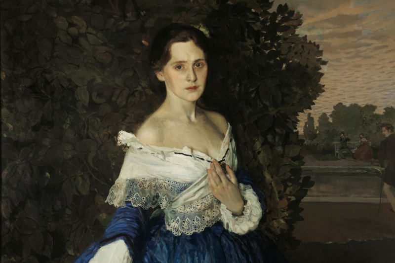 Constantin Somov. The lady in blue. Portrait Of Elizabeth Mikhailovna Martynova