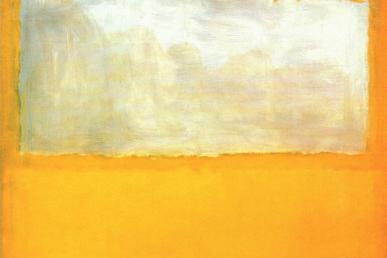 Rothko Mark.  No. 13. White and red on a yellow
